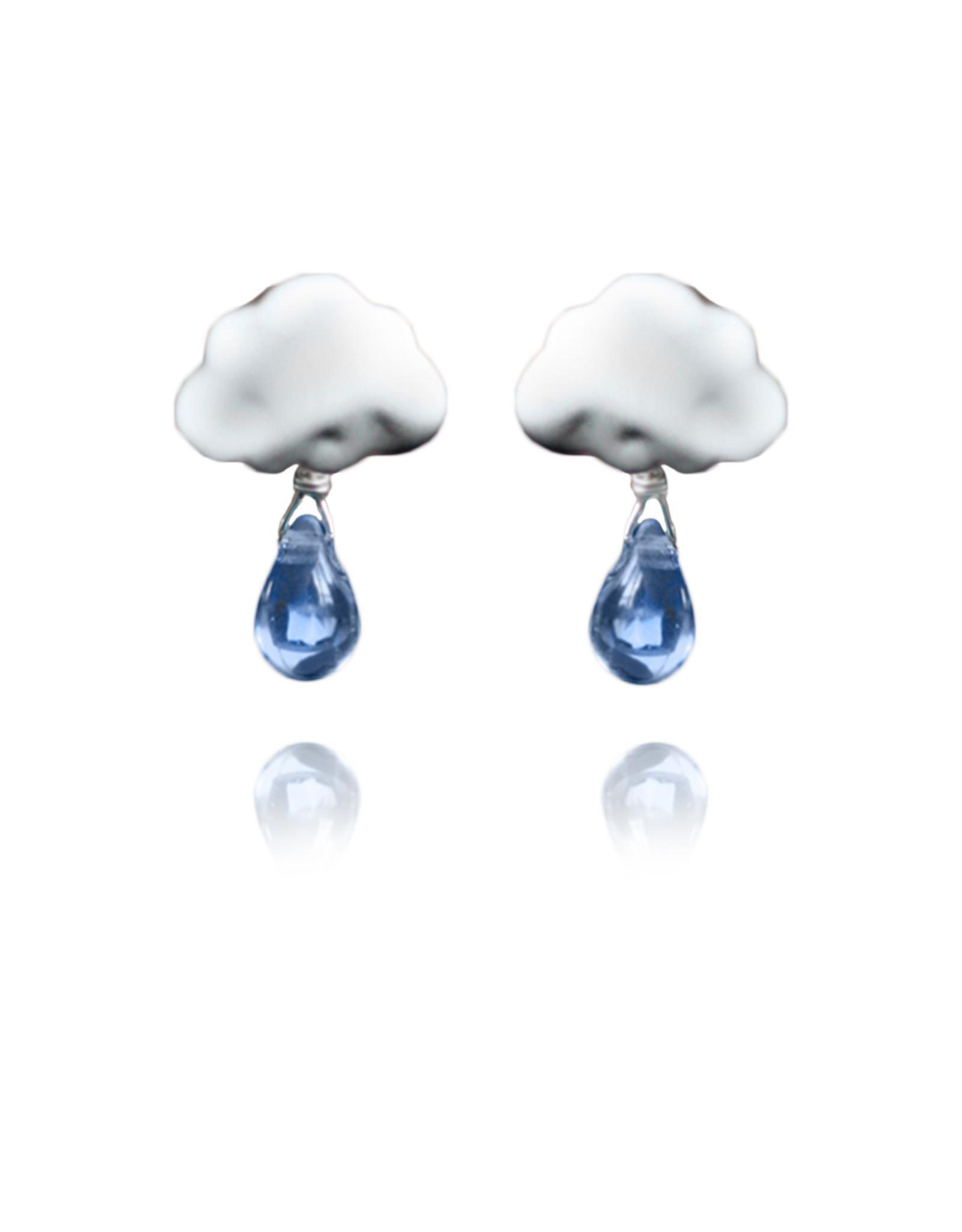 Lakoo Designs Silver Cloud 1 Drop Blue