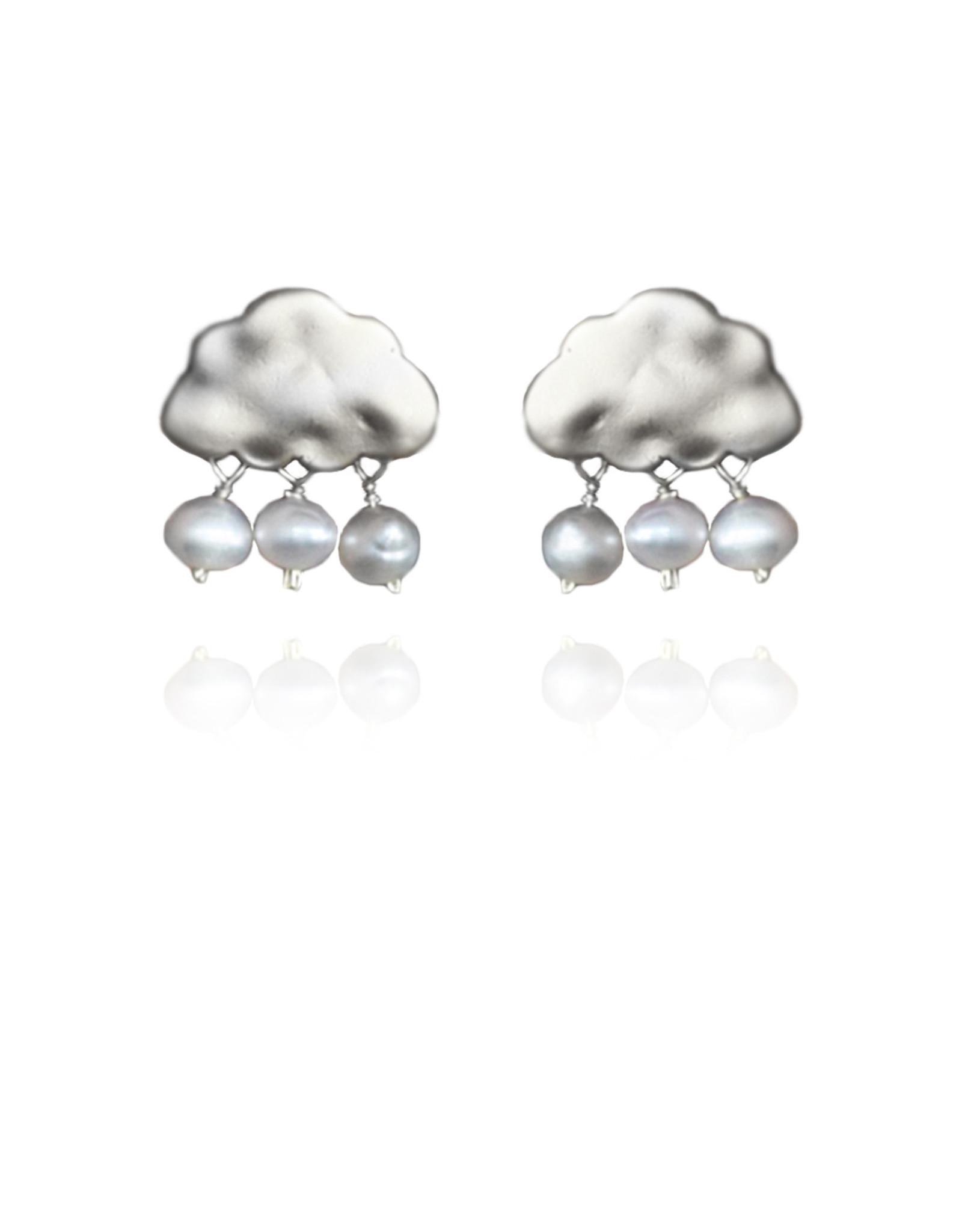 Lakoo Designs Silver Cloud 3 Drop Pearl