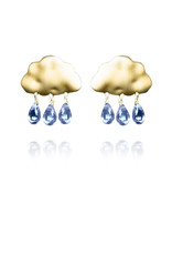 Lakoo Designs Gold Cloud 3 Drop Blue