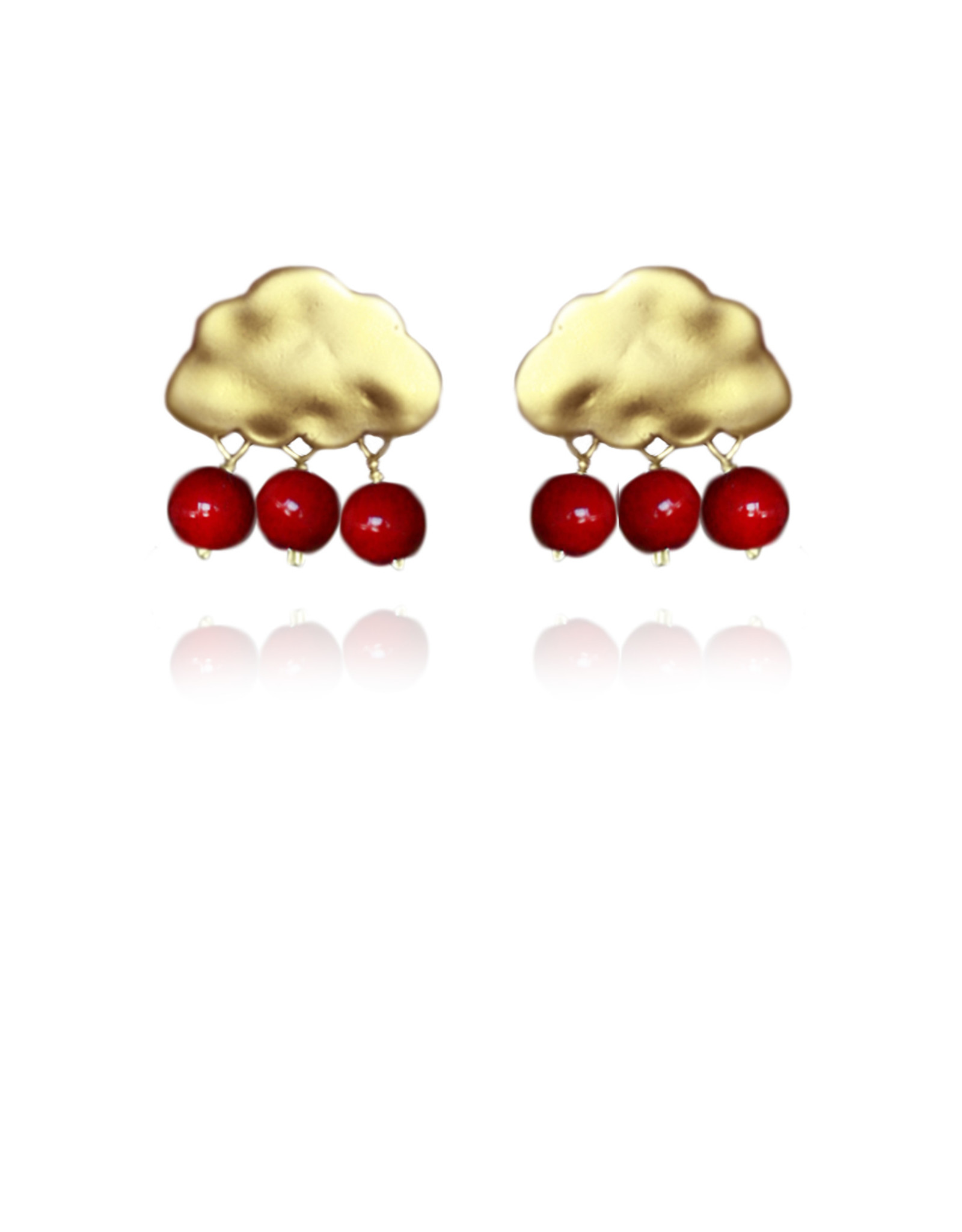 Lakoo Designs Gold Cloud 3 Drop Red