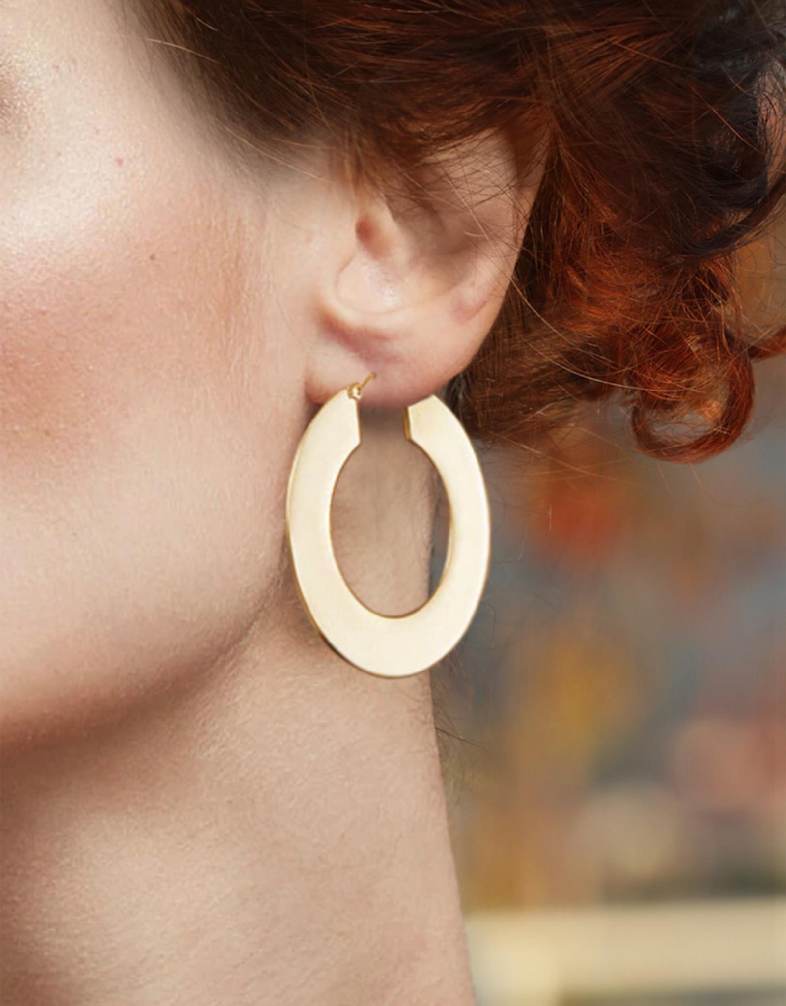 Lakoo Designs Gold Flat Hoops