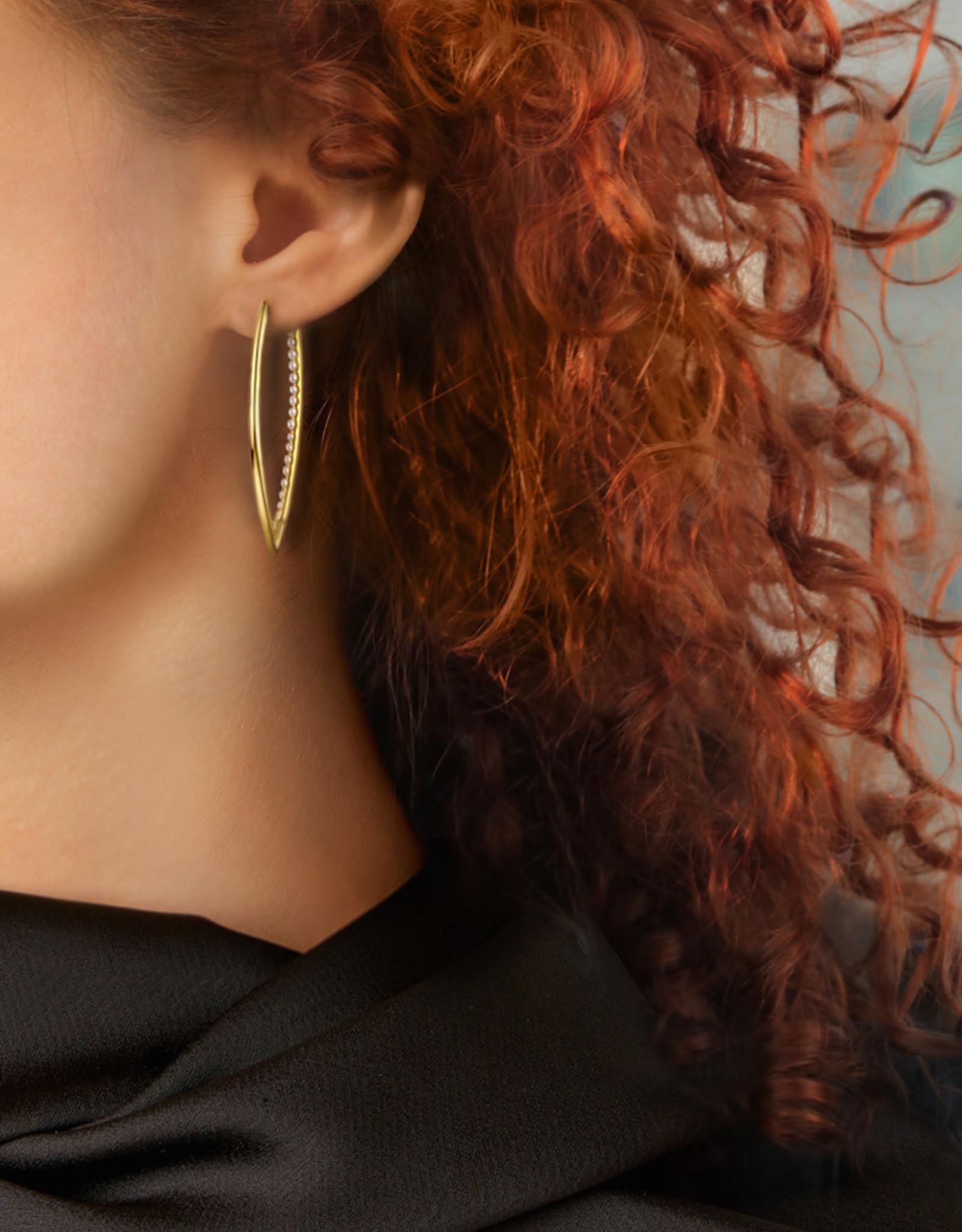 Lakoo Designs Gold Shark Pearl Huggies