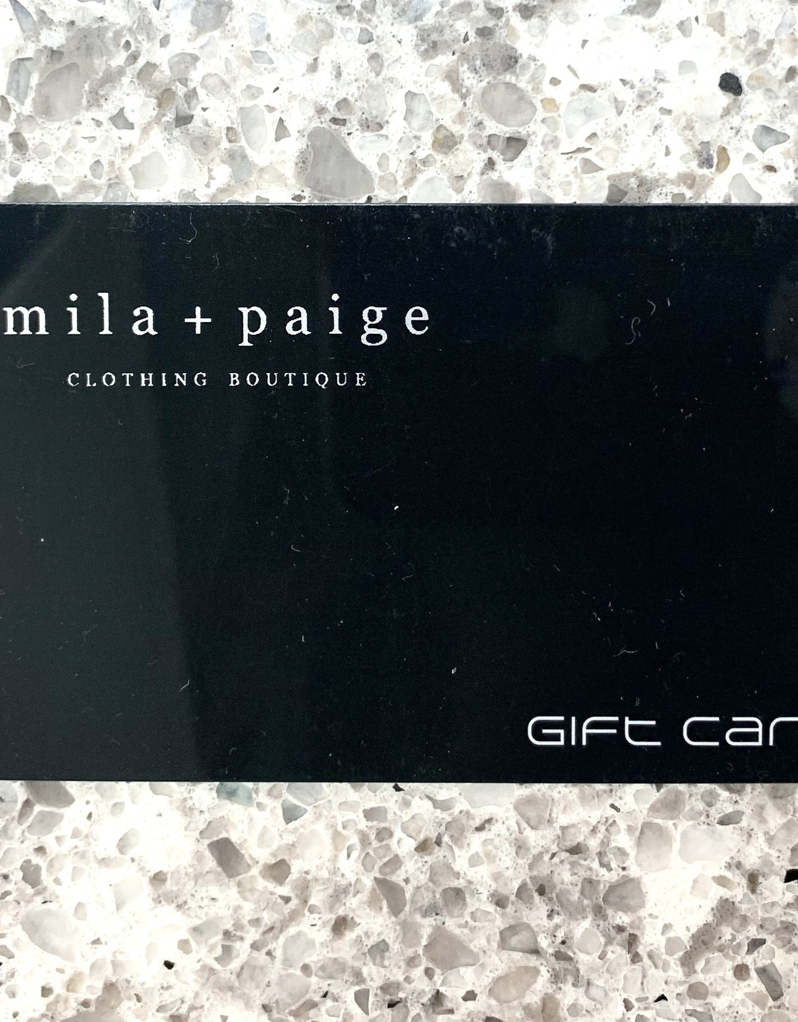 Mila and Paige Gift Card