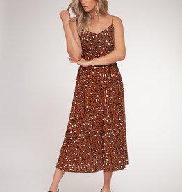 Black Tape Leopard Maxi Dress