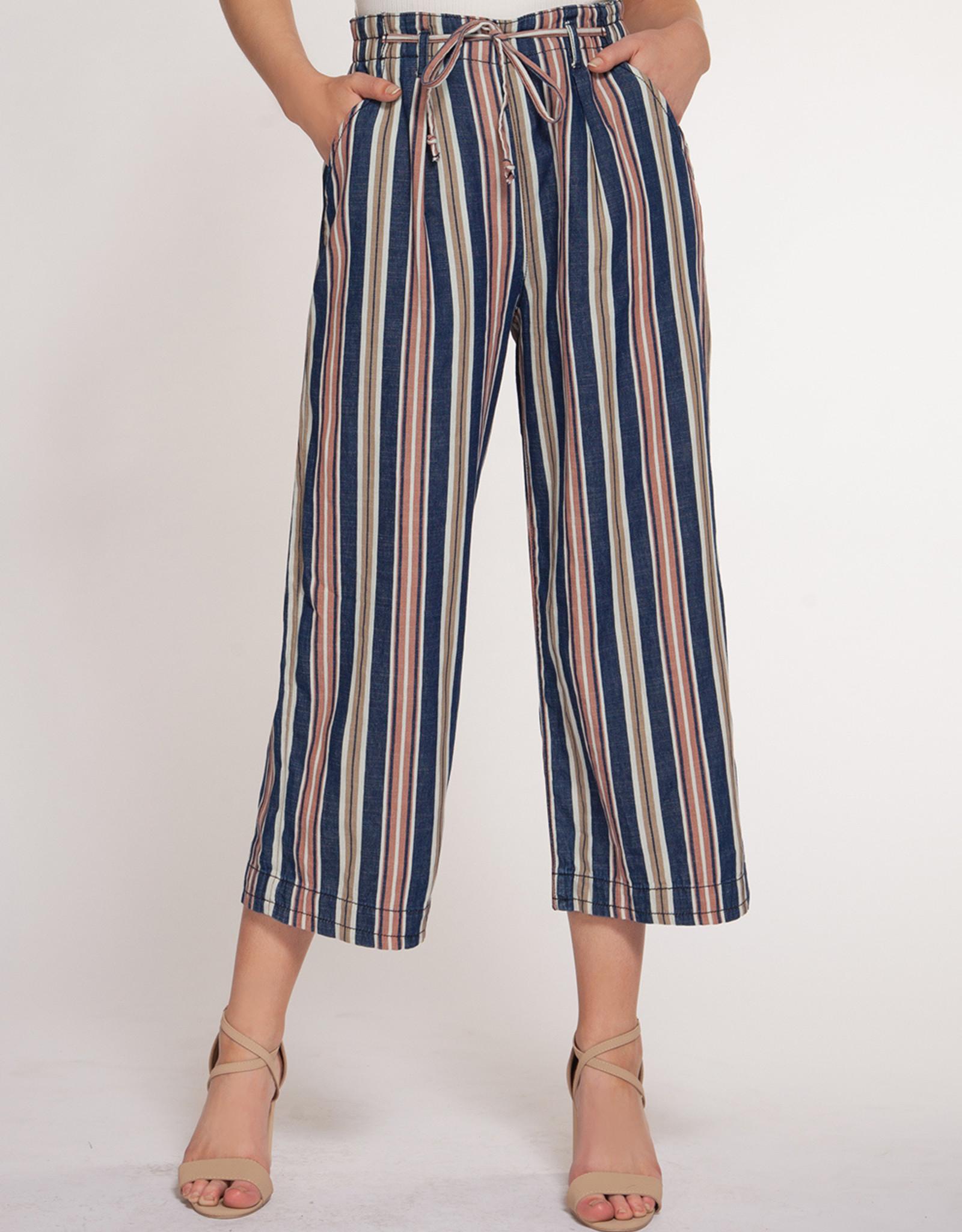 Dex Blue/Blush Stripe Pant