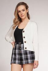 Dex White Short Cardigan
