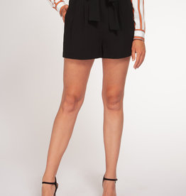 Black Tape Black Pleated Shorts