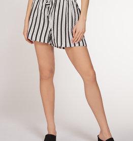Dex Black/Ivory Stripe Short