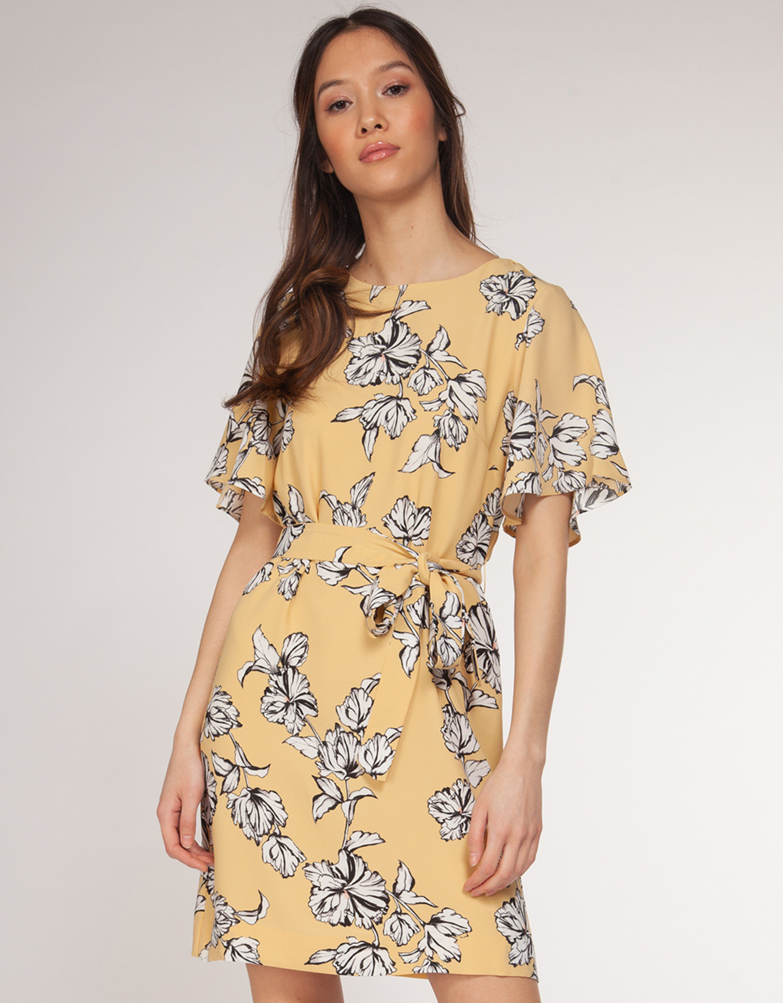 Dex Yellow Floral Dress