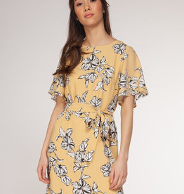 Dex Yellow Floral Dress