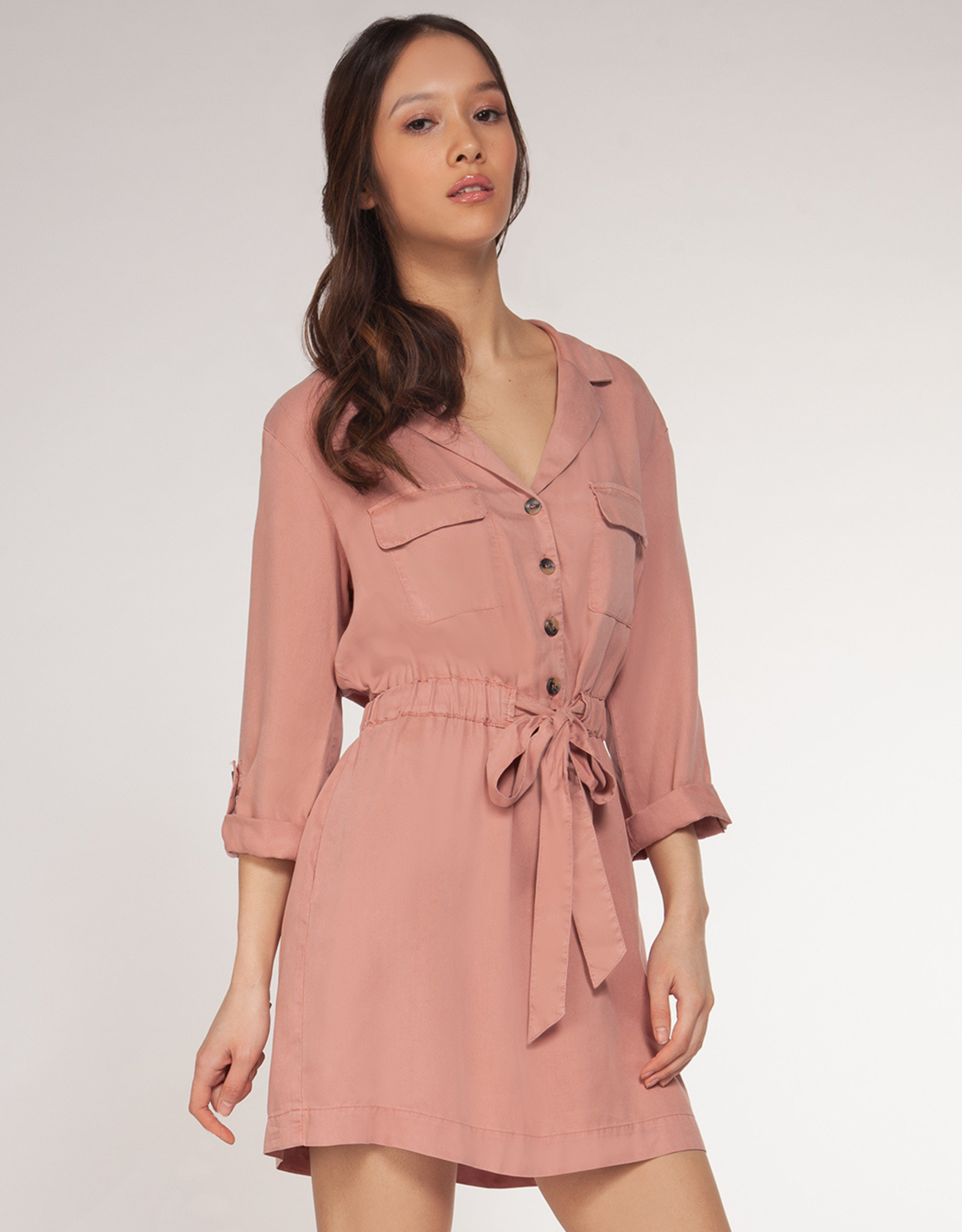 Dex Rose Shirt Dress