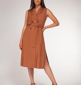 Black Tape Burnt Sienna Trench Dress