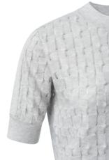Yaya Grey Silk Sweater