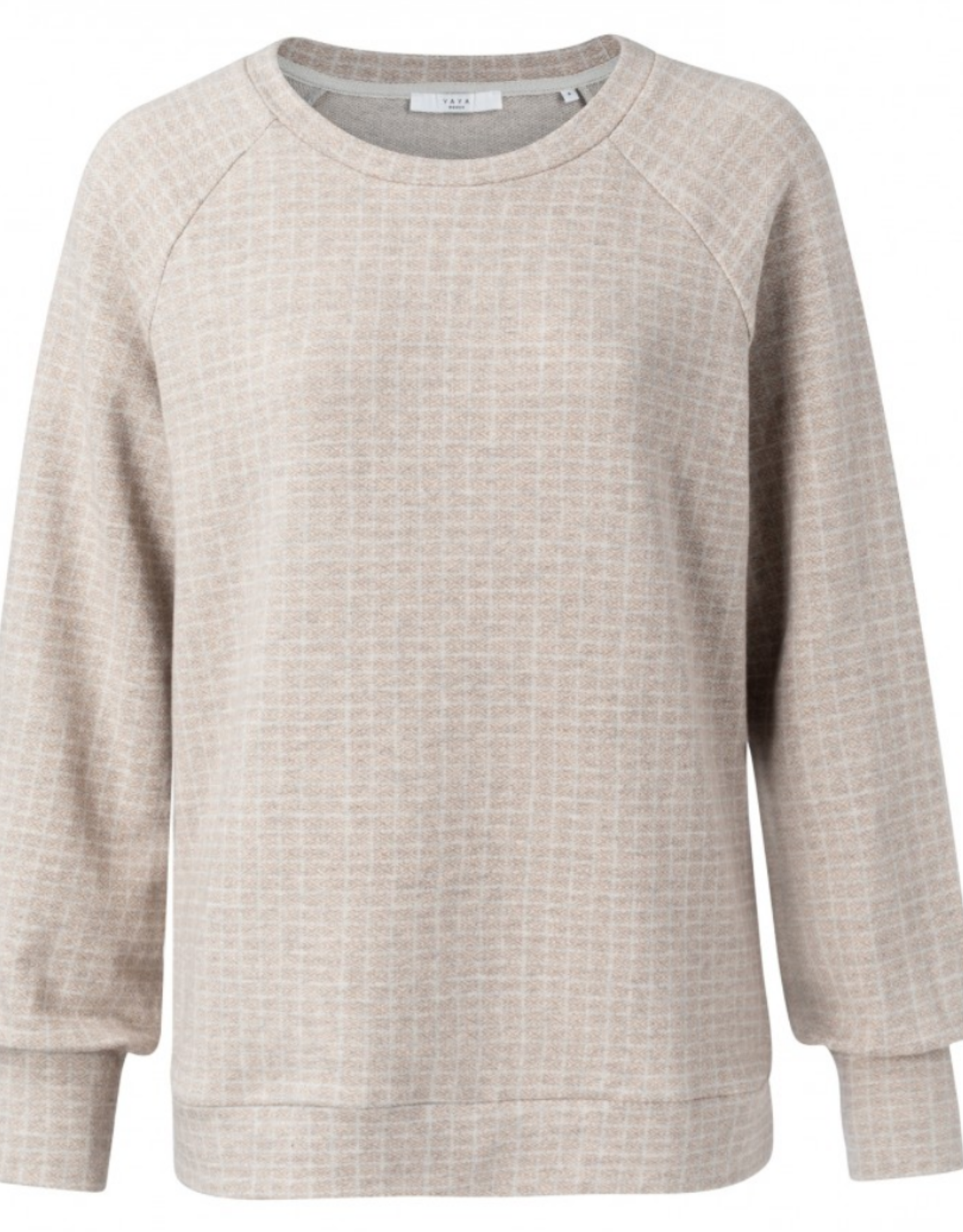 Yaya Beige Printed Sweater