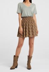 Yaya Chocolate Pleated Skirt