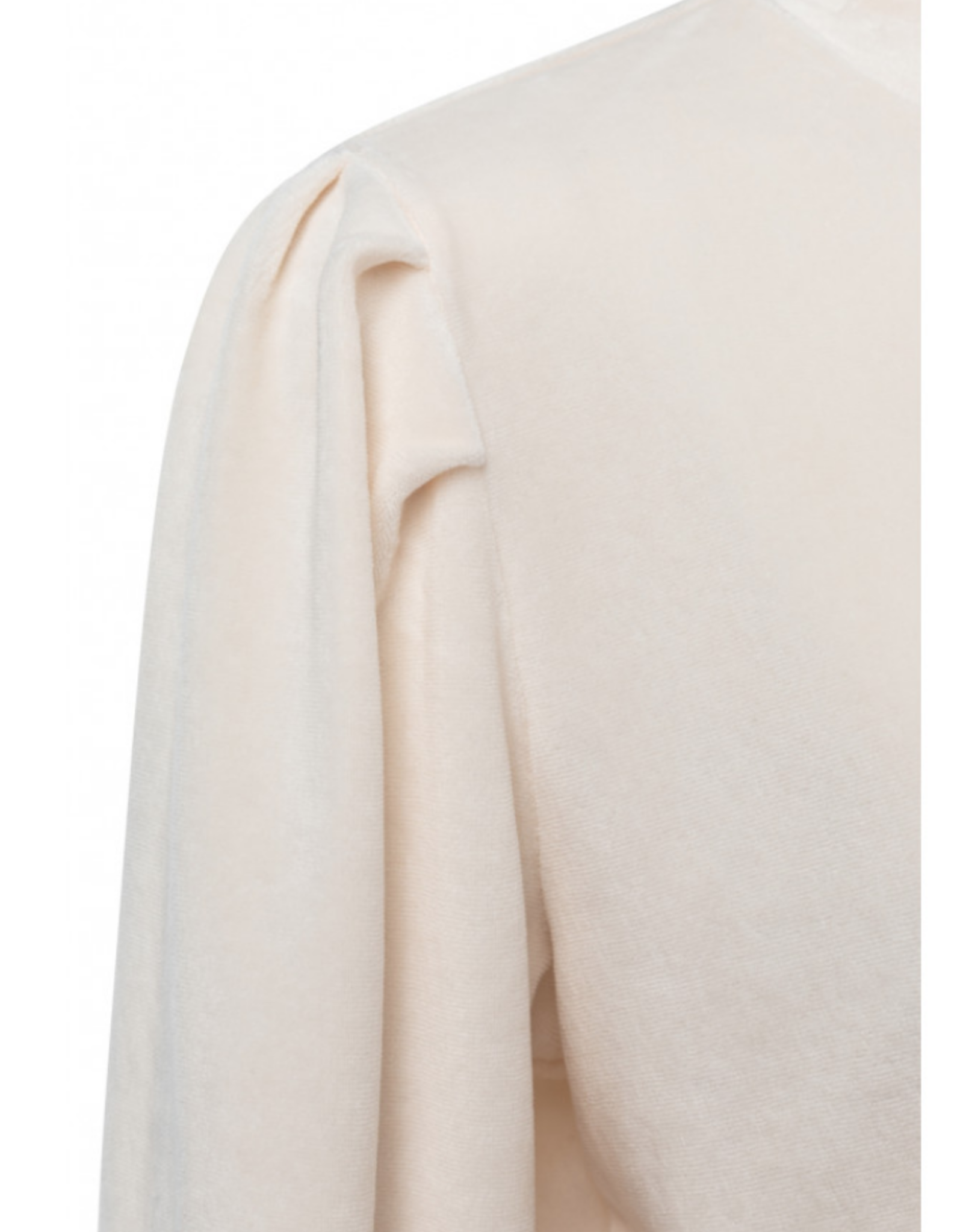 Yaya Cream Velvet Sweatshirt