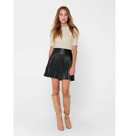Jacqueline de Yong Twix Pleated Faux Leather Skirt