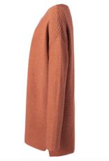 Yaya Stone Red Cotton Sweater