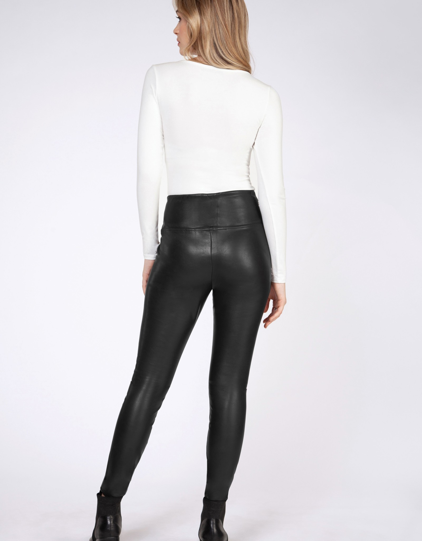 Dex Black Faux Leather Leggings