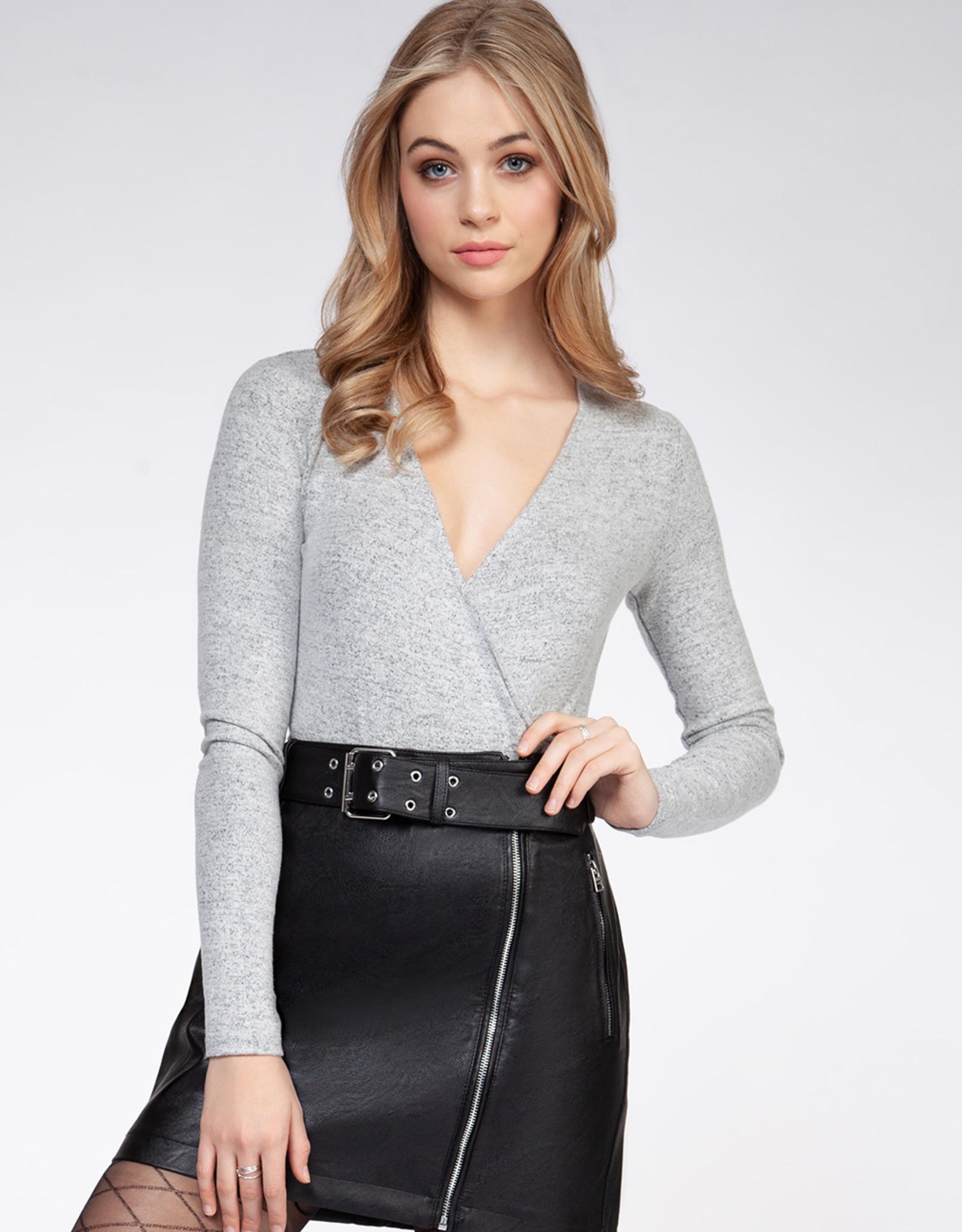 Dex Grey Crossover Bodysuit