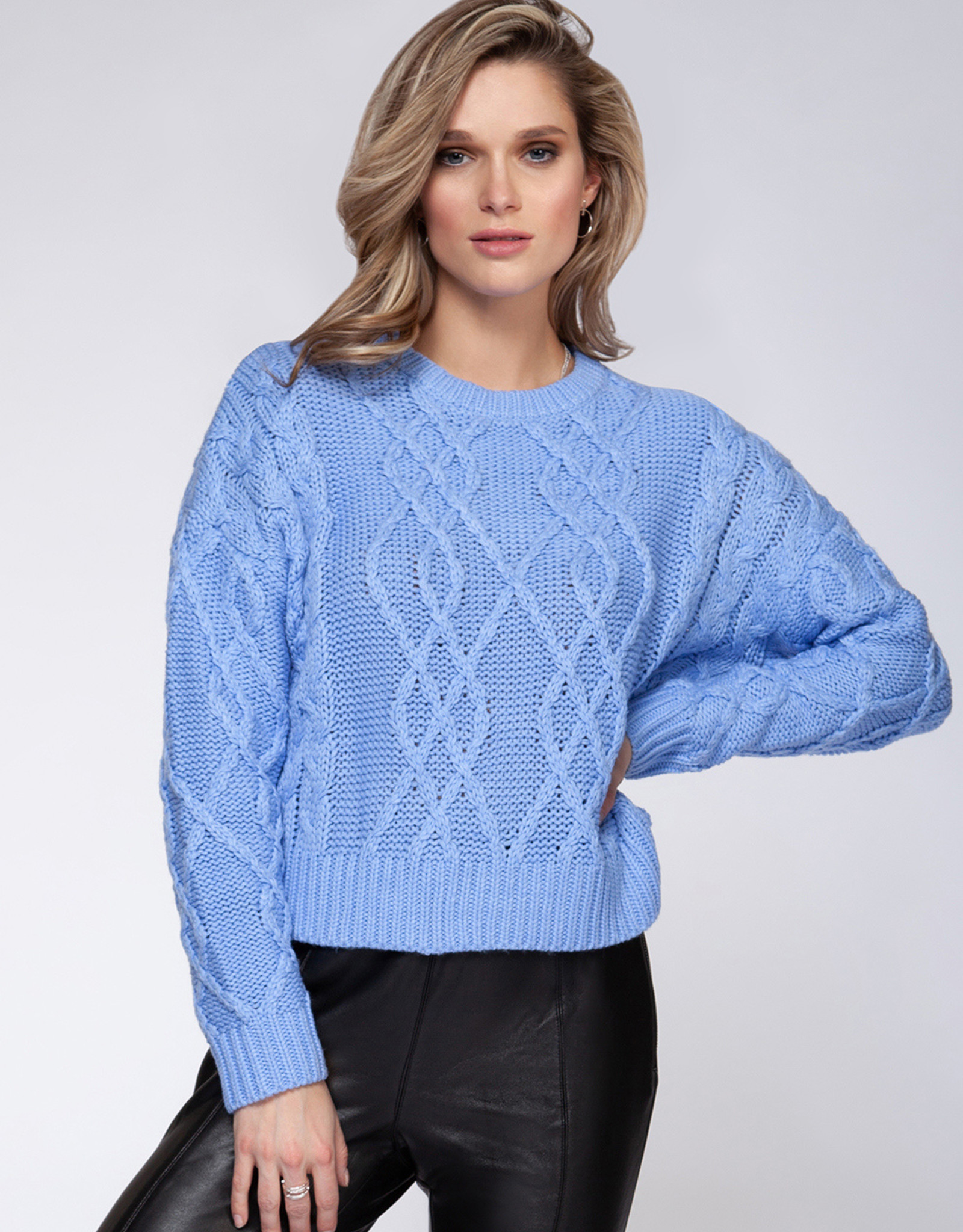 Black Tape Periwinkle Sweater