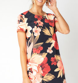 Mink Pink Annika Blooms Tee Dress