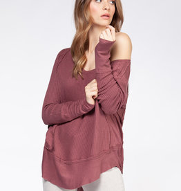Dex Dark Rose Waffle Thermal
