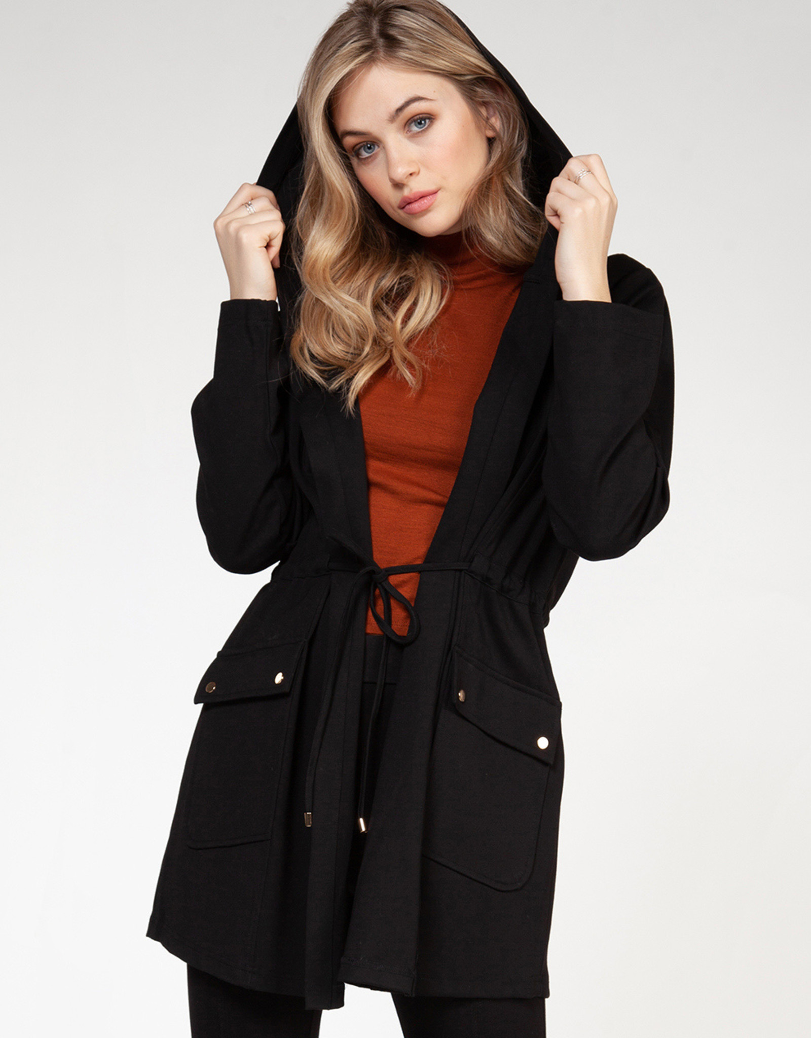 Dex Black Hooded Jacket