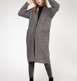 Dex Grey Tweed Cardigan
