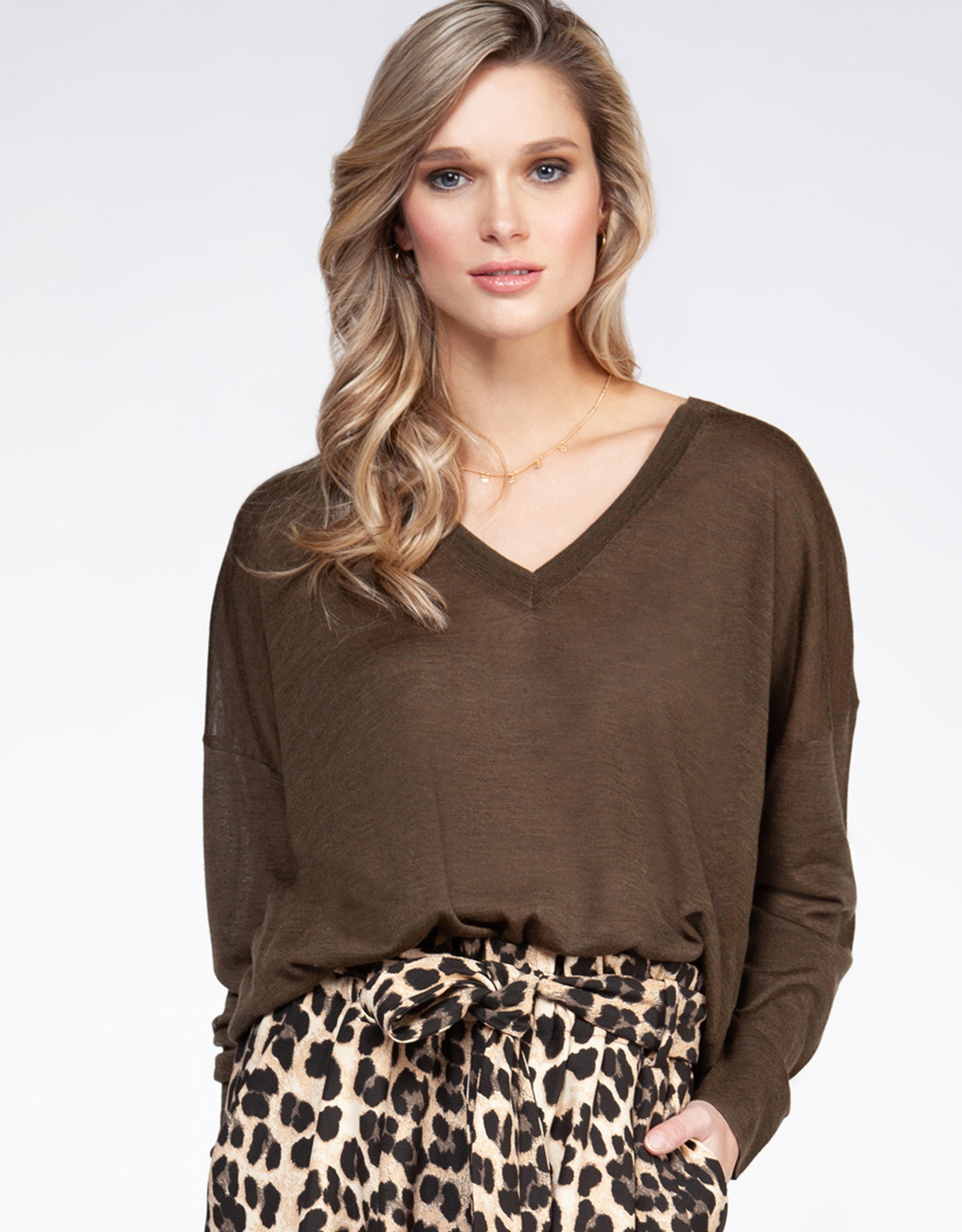 Black Tape Olive Sweater