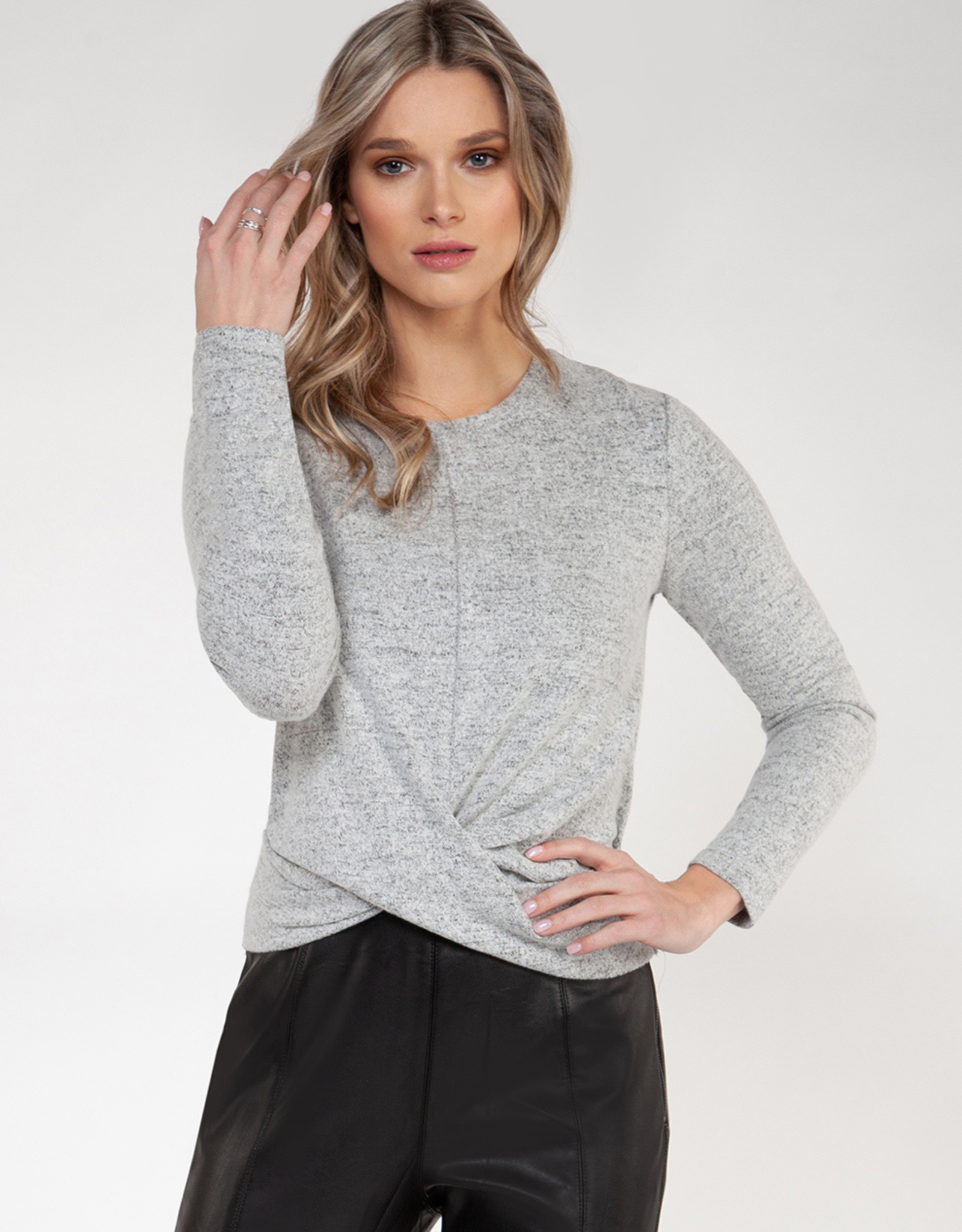 Black Tape Grey Knit Top