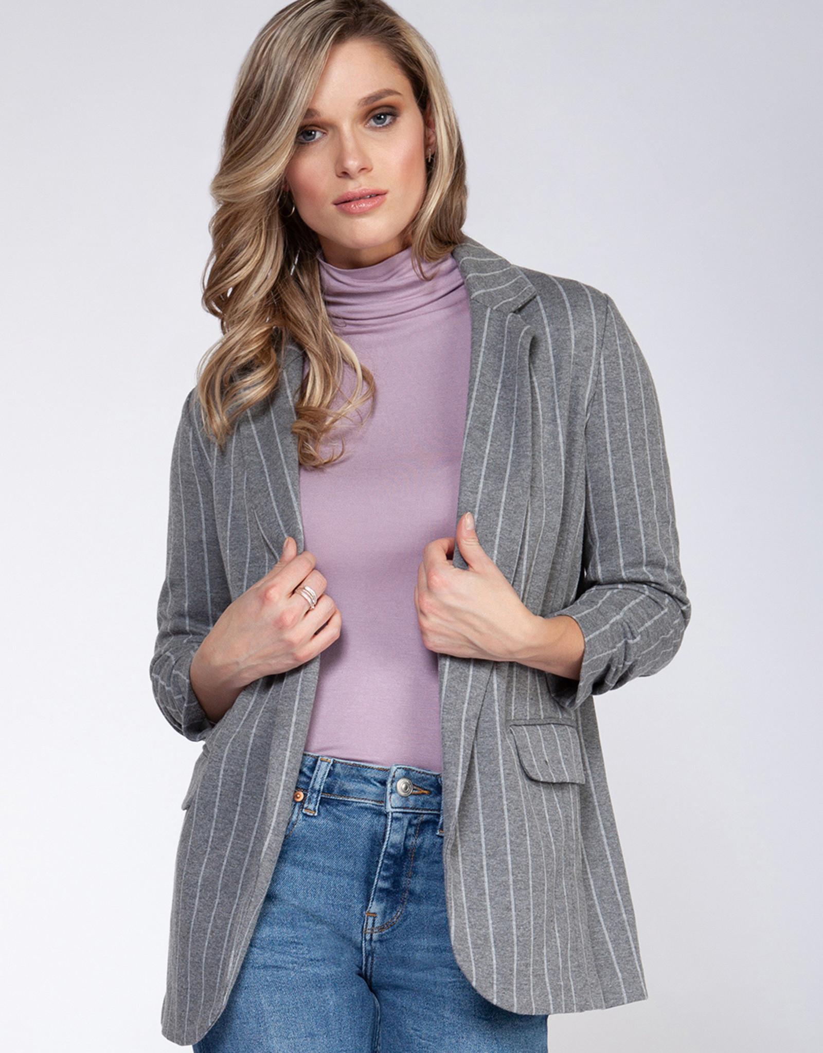 Black Tape Grey Stripe Blazer