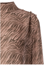 Yaya Licorice Stripe Blouse