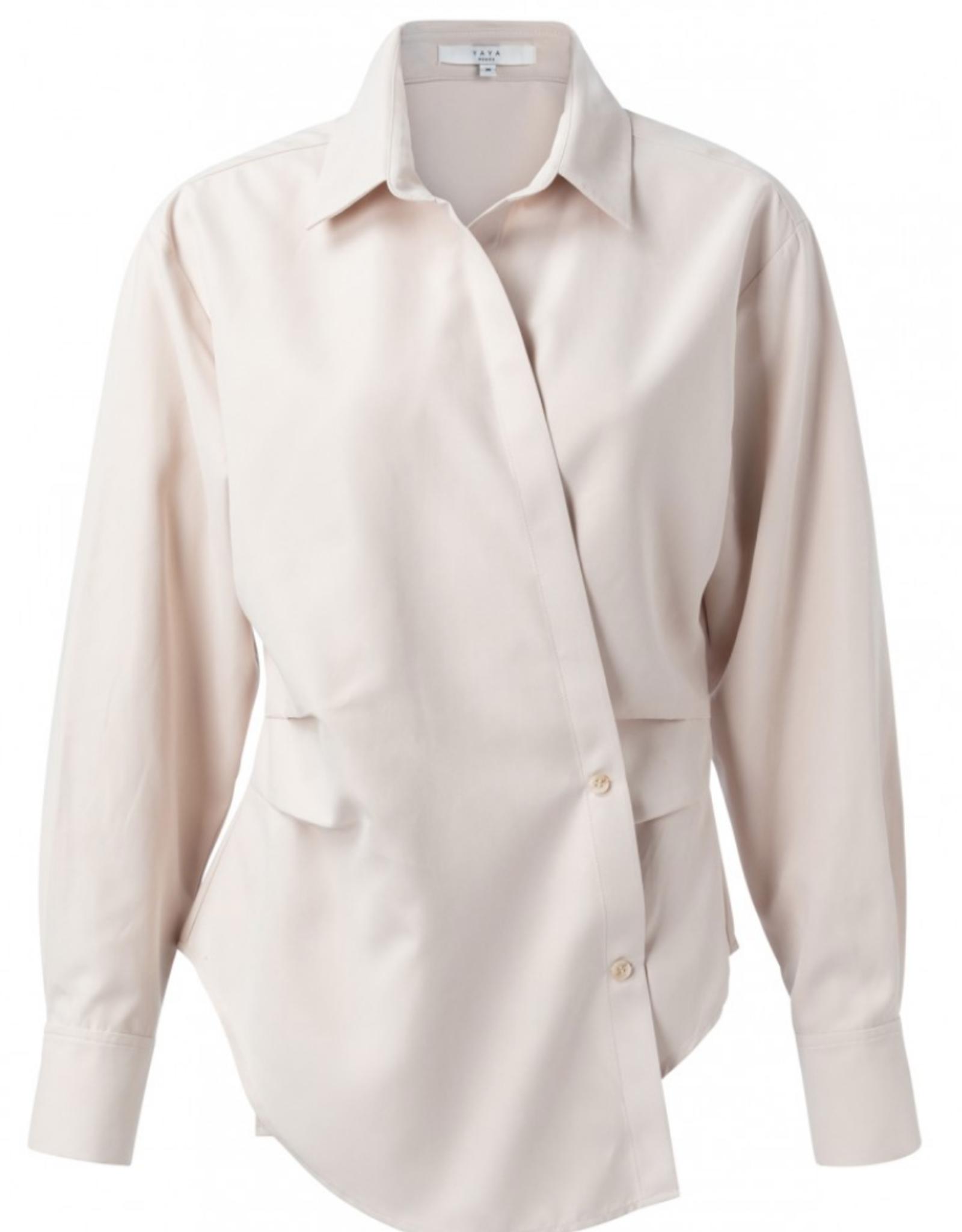 Yaya Soft Pink Wrap Shirt