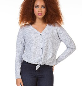 Dex Button Down Knit Top