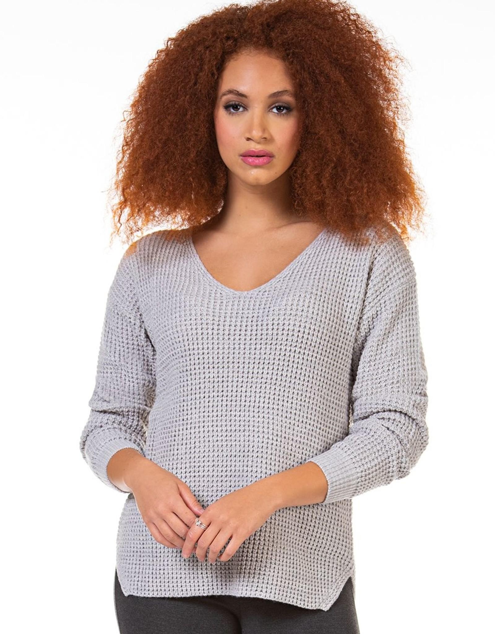 Dex Grey V-Neck Sweater