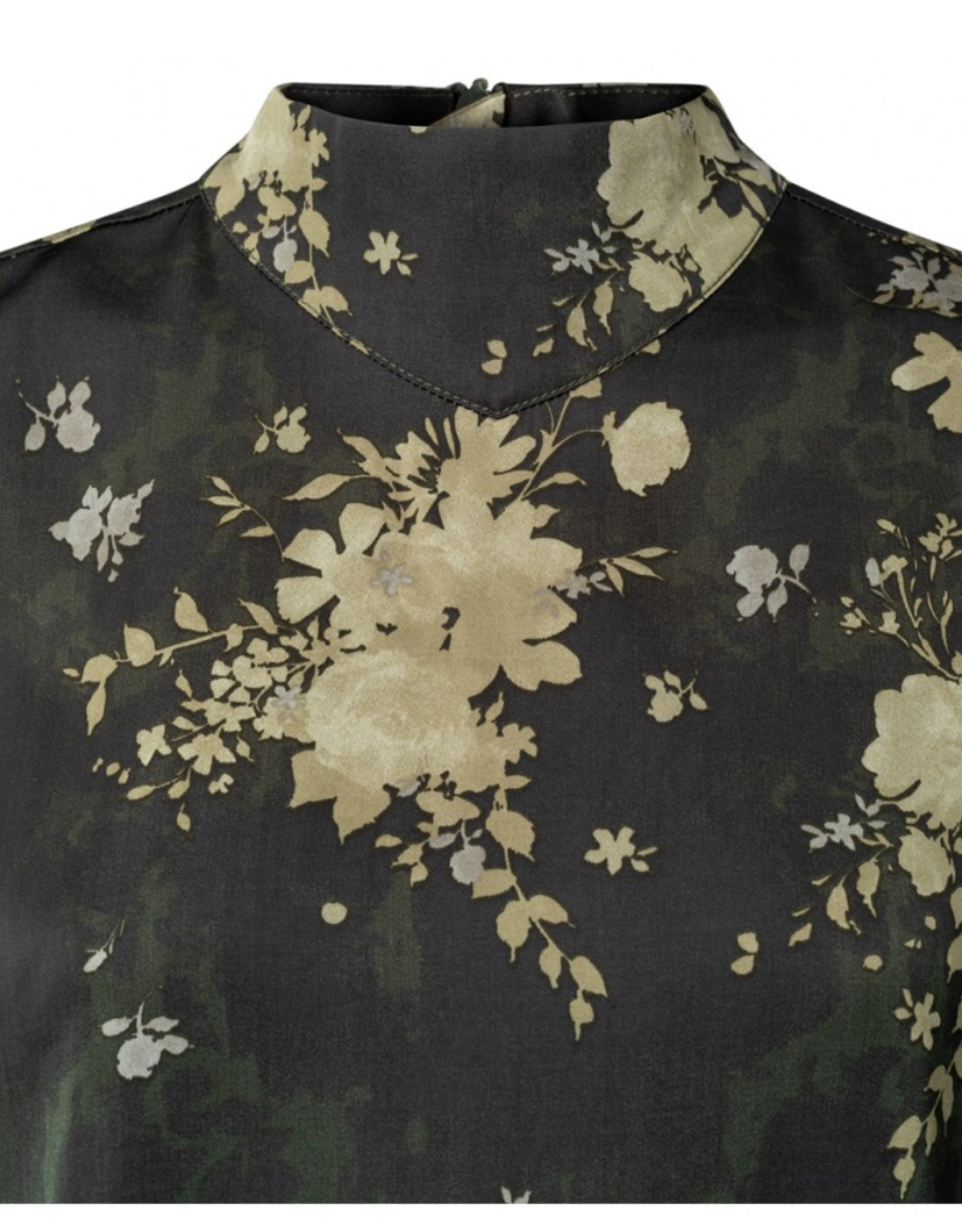 Yaya Flower Print Turtleneck