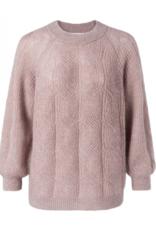 Yaya Pointelle Sweater Plum