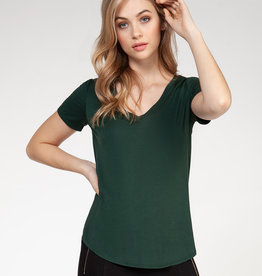 Dex Green V Neck Tee