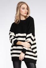 Dex Black Stripe Sweater