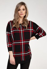 Black Tape Black and Red Plaid Sweater