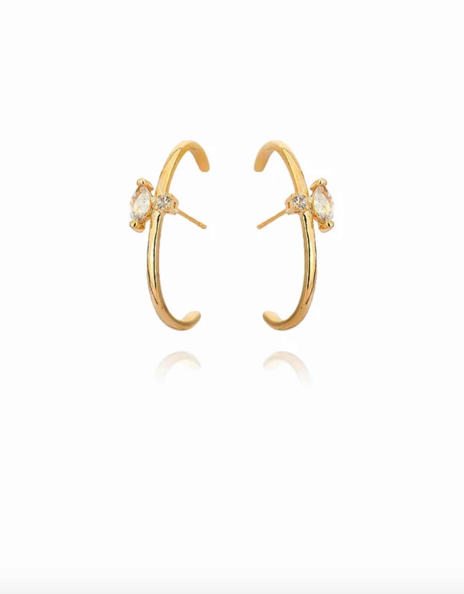 Lakoo Designs Gold Marry Me CZ
