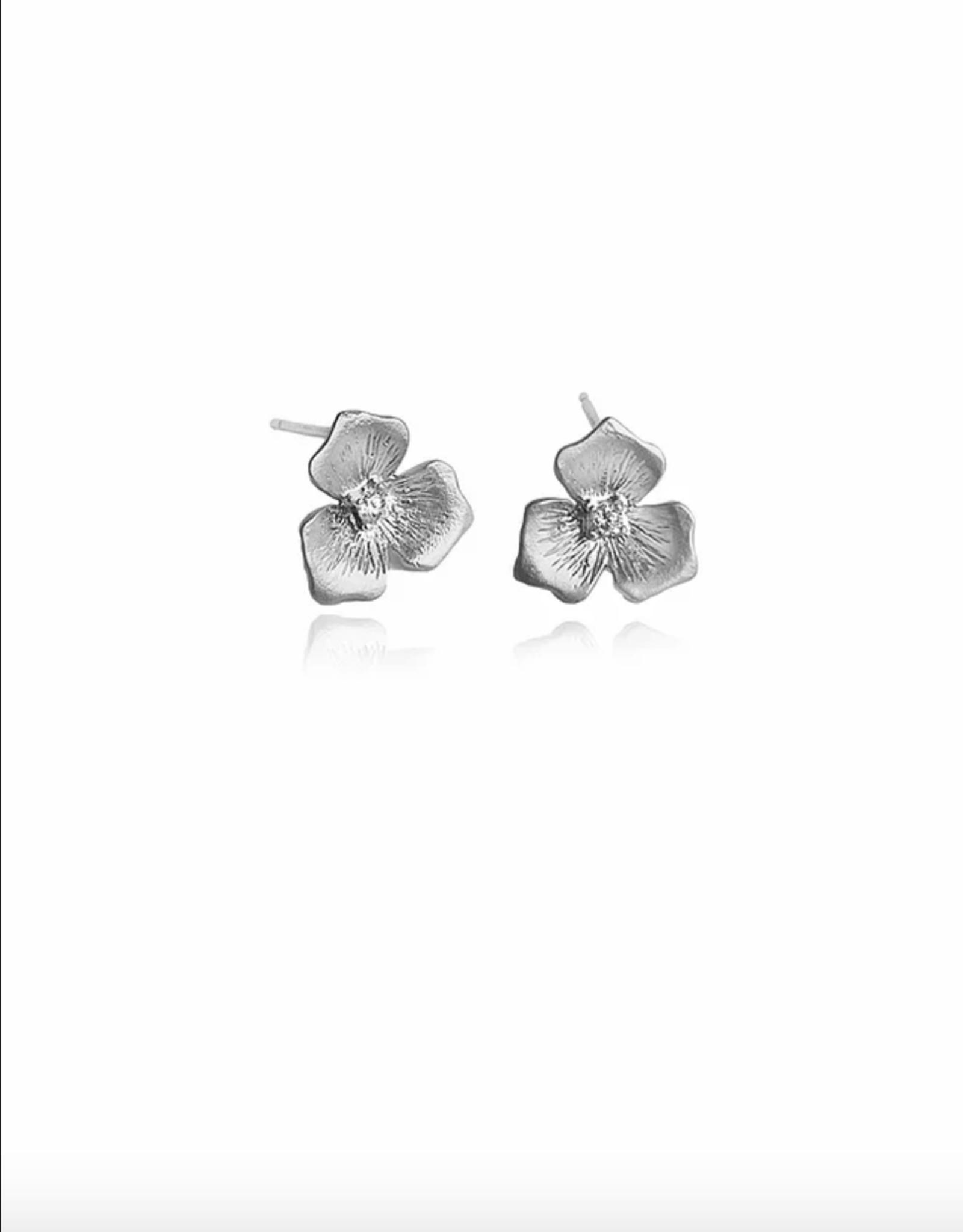 Lakoo Designs Silver Sm Flower CZ