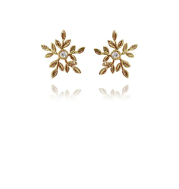 Lakoo Designs Gold Snowflake CZ