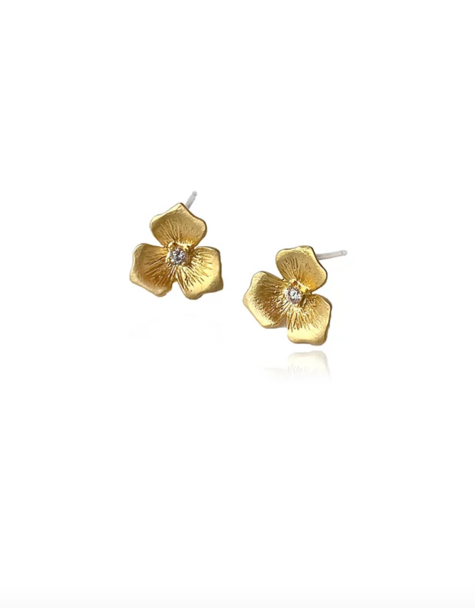Lakoo Designs Gold Sm Flower CZ