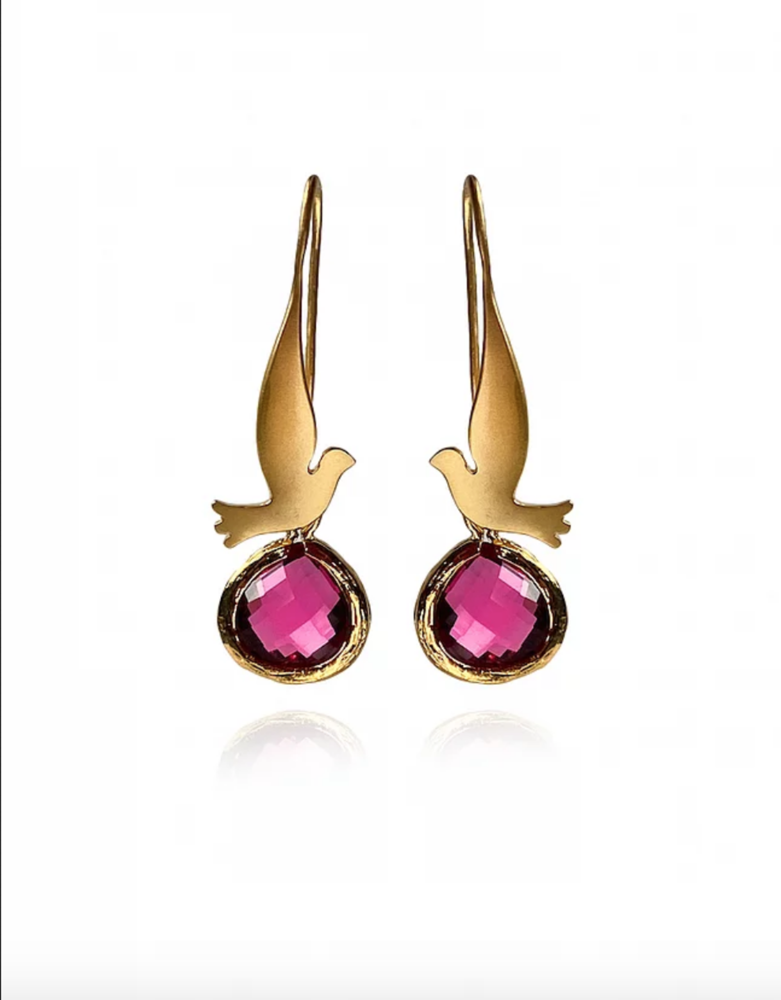 Lakoo Designs Gold Bird Mini Red
