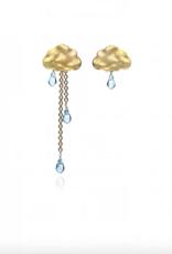 Lakoo Designs Gold Cloud Long Light Blue