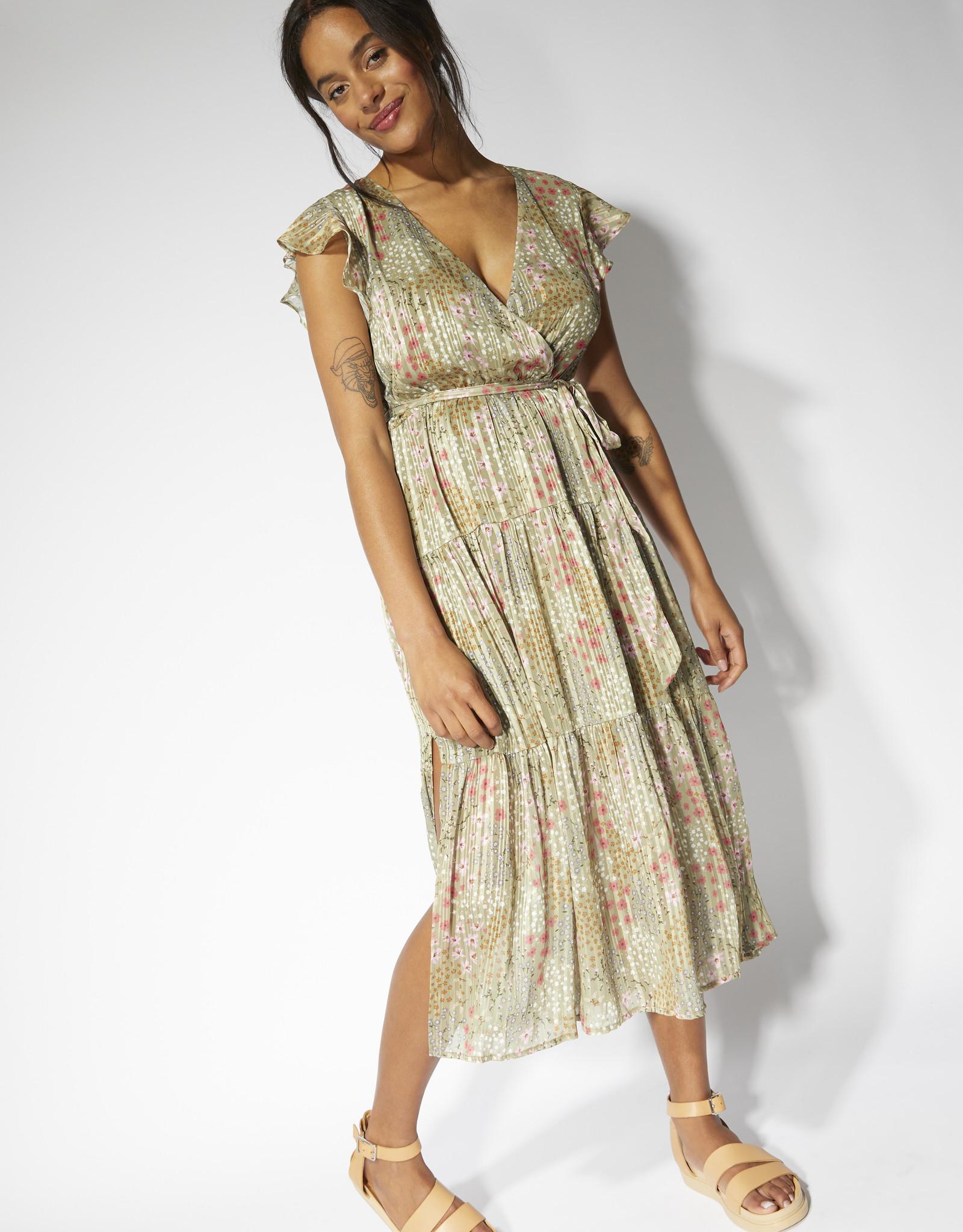 Mink Pink Monet Midi Dress