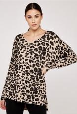 Apricot Leopard Print Jumper