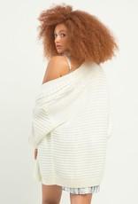 Dex Textured Stitch Cardigan Off White